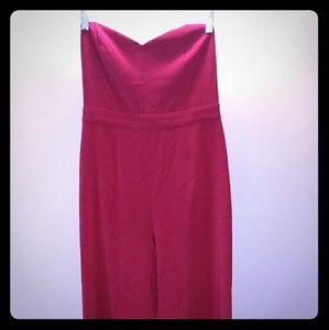 Forever 21 red jumpsuit medium